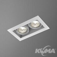 Squares lampa wpuszczana 2x50W GU5.3 12V biała (mat)