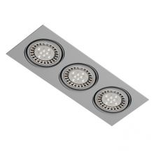 Mara oprawa wpuszczana 3x100W G53 12V srebrny aluminiowy mat
