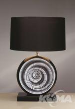 Black Swirl Lampa stołowa 1X60W E27 + abazur LS1002