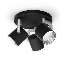 Byrl reflektor 3x4,3W LED 230V czarny