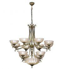 Granada lampa wisząca żyrandol patyna połysk 12 pł . 15xE27 z amplą 60W max