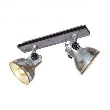 Barnstaple reflektor 2x40W E27 230V patyna/brąz