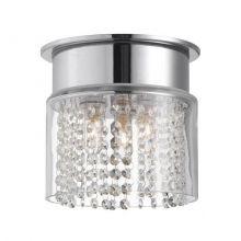 Hjuvik lampa sufitowa łazienkowa 3x40W G9 230V chrom/transparentna