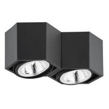 Espresso lampa sufitowa plafon 3x48W G9 230V czarna
