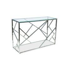 Escada c konsola 78x40x120 szklana + srebrne elementy