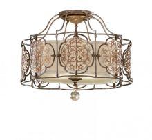 Lampa sufitowa marcella 3 x 60W E27 brąz a++...e