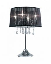 Organza lampka  biurkowa  4x40W E14 chrom/bialy