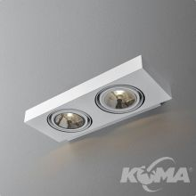 Sleek kinkiet 2x50W G53 AR111 230V biały (mat)