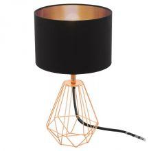 Carlton lampa stołowa 1x60W E14 230V czarna/miedź