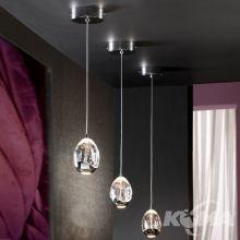 Rocio lampa wisząca 5W LED 3000K 230V transparentna + elementy chromu