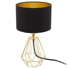 Carlton lampa stołowa 1x60W E14 230V czarna/złota