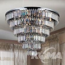 Salerno_xl lampa wisząca kryształow chrom śr. 80cm