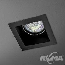 Mini Square lampa wpuszczana 1x50W GU10 230V czarna (mat)