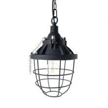 Industrial lampa wisząca 1x40W E27 230V czarna
