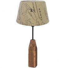 Rinsey lampka stołowa e14/40w brąz