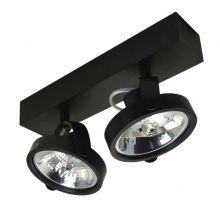 Go lampa sufitowa/spot 2x42W G9 230V czarna