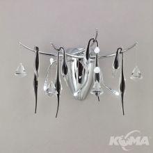 B&N kinkiet 3x20W G4 chrom + czarny kryształ