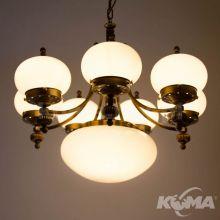 Nostalgia lampa wiszaca 1319/7+1 patina/328.330 champ glänzen