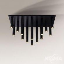 Yabu lampa sufitowa plafon 14x25W GU10 230V czarny