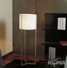 Nirvana lampa podlogowa E27/150W nikiel mat/bialy abazur