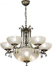 Granada lampa wisząca żyrandol patyna połysk 5 pł. 8xE27 z amplą 60W max
