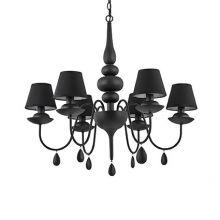 Blanche SP6 lampa wisząca 6x40W E14 czarna