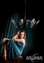 King lampa wiszaca 8x40W G9 d95cm chrom
