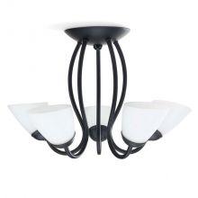Herald lampa sufitowa żyrandol 5x40W E14 230V brązowy