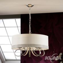 Adela lampa wisząca 5x20W E14 230V biała + srebrne elementy