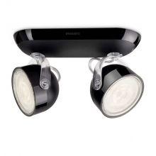 Dyna reflektor/spot 2x3W LED 230V czarny