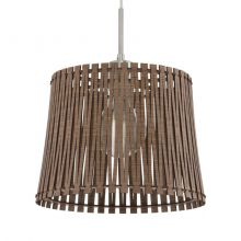 Sendero lampa wisząca 30cm 1x60W E27 230V brązowa