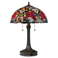 Larissa lampa stołowa 2x60W E27 230V stary brąz