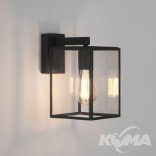 Box lantern kinkiet zewnętrzny 1x60W E27 230V czarny