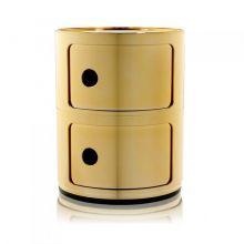 Componibili szafka modułowa 2-elementowa 40cm złota