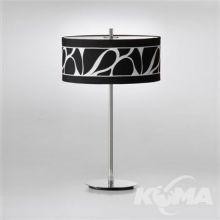 Manhattan lampa stołowa 2x60W E27 230V czarno-biała + elementy chromu