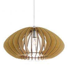Cossano 2 lampa wisząca 50cm 1x60W E27 230V brąz/nikiel
