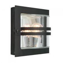 Bern kinkiet zewnętrzny 1x46W E27 230V czarny/transparentny klosz