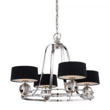 QZ_Gotham_4 lampa wisząca 4x3,5W LED G9 srebrny