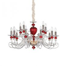 Baronet lampa wisząca żyrandol 15x40W E14 230V transparentna