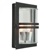 Bazylea kinkiet zewnętrzny 1x57W E27 230V czarny / przezroczyste szkło