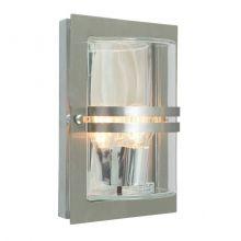 Bazylea kinkiet zewnętrzny 1x57W E27 230V ocynk / przezroczyste szkło