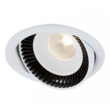 Luk oprawa wpuszczana 16,3W LED czarno-biała DIMM D1/PU