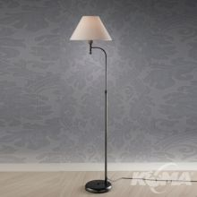 Model 005 Lampa podłogowa 1x42W E27 antyczna zieleń/abażur bawełna
