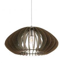 Cossano 2 lampa wisząca 50cm 1x60W E27 230V ciemny brąz/nikiel
