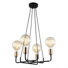 Betty lampa wisząca czarna/brązowa 4x40W E27