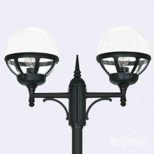Bologna lampa stojąca zewnętrzna czarna/klosz transparentny E27 2x46W / led 9w