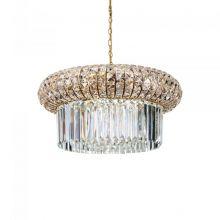 Nabucco lampa wisząca złota/transparentna 12x40W E14