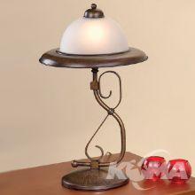 179 lampka stołowa E27 40W ziemisty brąz/mleczny klosz