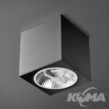 Big Cube oprawa sufitowa czarna (mat) 1x50W AR111 230V
