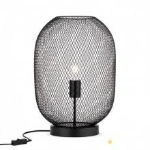 Georgina lampa stołowa czarna z kloszem siatkowym 1x60W E27